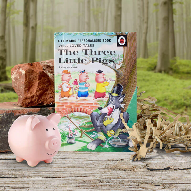 Personalised Ladybird Book of The Three Little Pigs