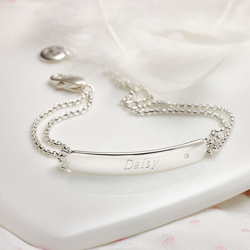 Personalised My First Diamond Bracelet
