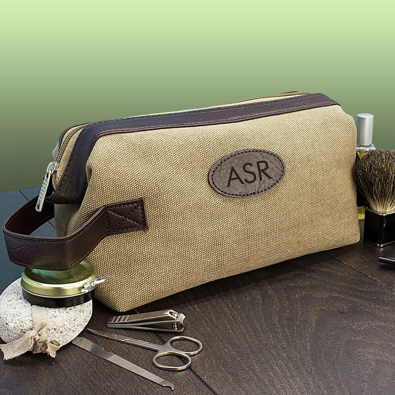 Personalised Expandable Canvas Wash Bag