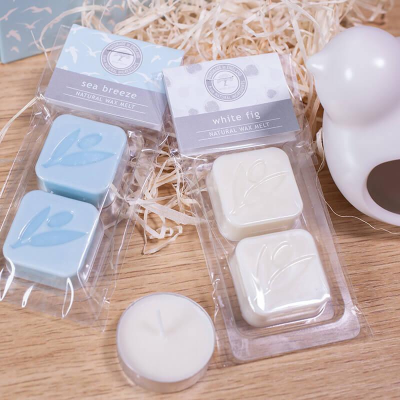 Luxury Ceramic Burner & Soy Wax Melts - White