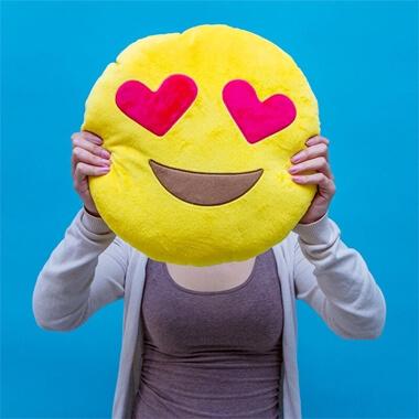Emoji Cushion - Much Love