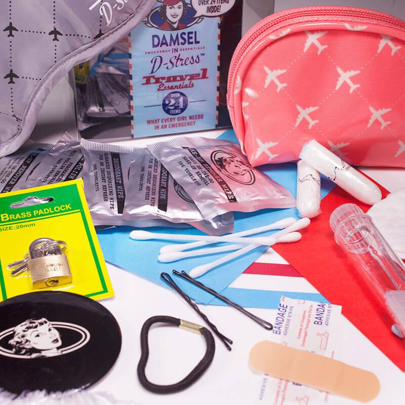 Damsel In D-Stress - Coral Travel Kit