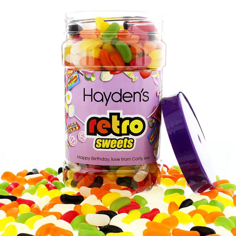 Personalised Sweetie Jar - Jelly Beans