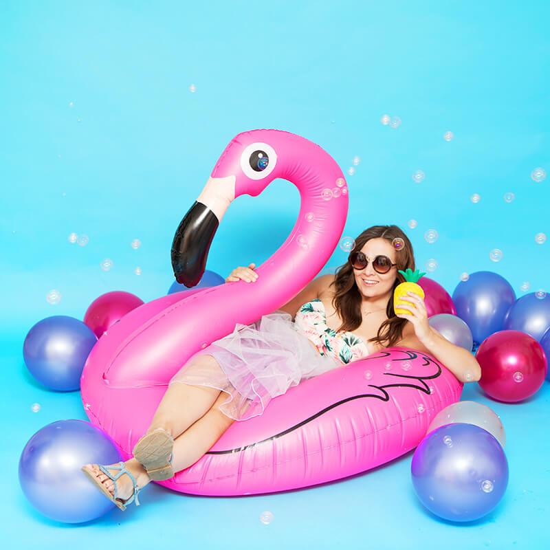 Pink Flamingo Pool Float Buy From Prezzybox Com