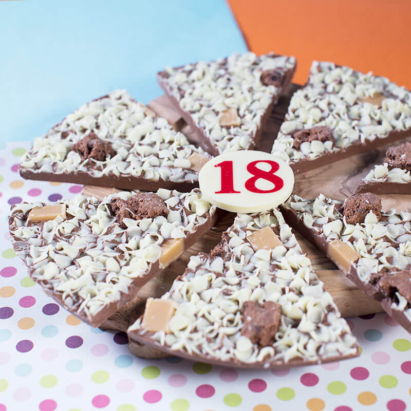 "18th Birthday Chocolate Pizza - 10"""