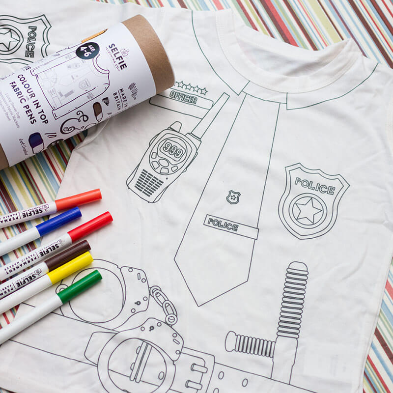 Police Officer Colouring T-Shirt