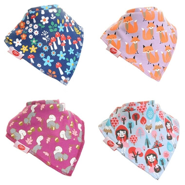 Woodland Dribble Bibs - 4 Pack