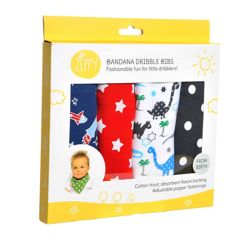 Baby Boy Uptown Dribble Bibs - 4 Pack