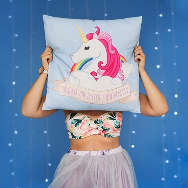 Dreams Are Better Than Reality Unicorn Cushion
