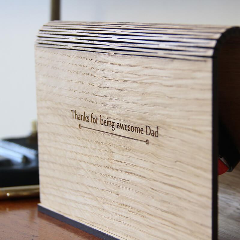 Personalised 'Living Hinge' Wooden Clock