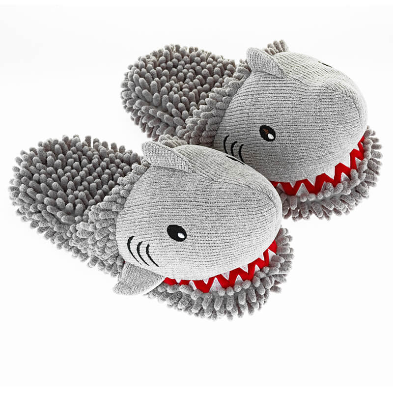 Fuzzy Friends Shark Slippers