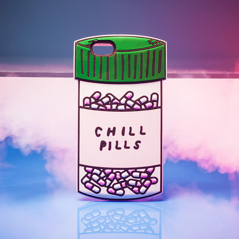 Chill Pills Silicone iPhone Case