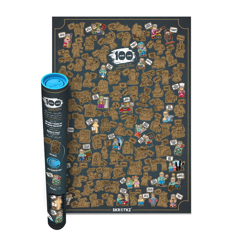 Retirement Poster - 101 Activities For Those Of A Certain Age