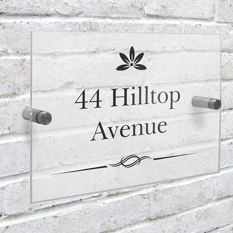 Personalised Decorative Acrylic House Sign