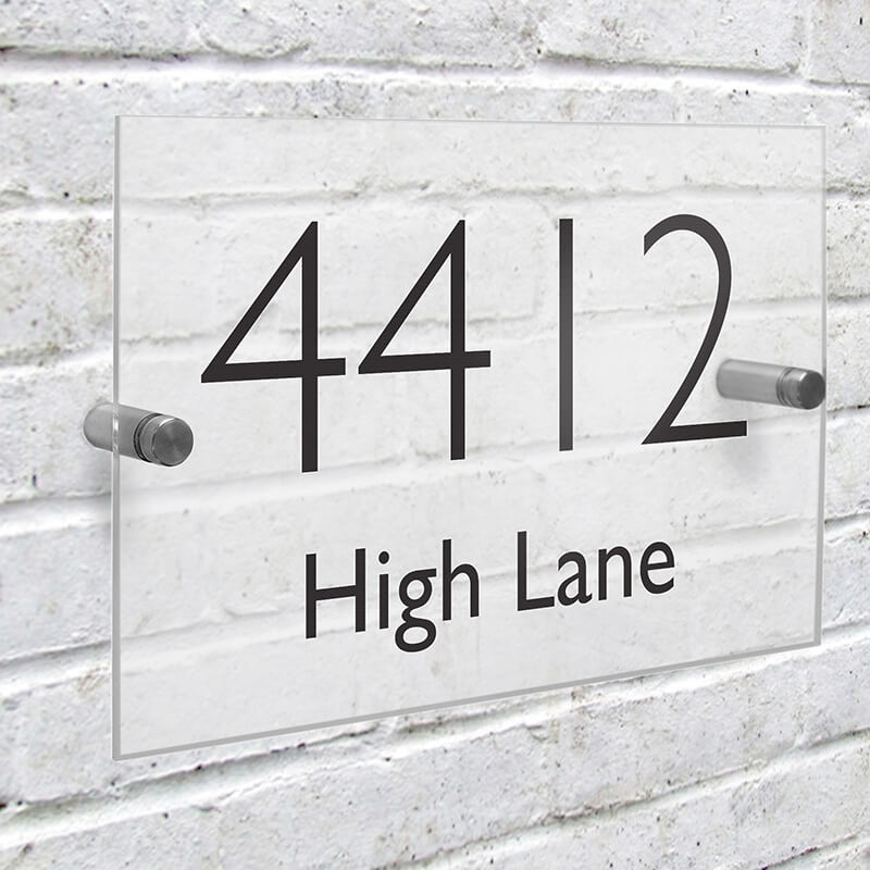 Personalised Acrylic House Sign