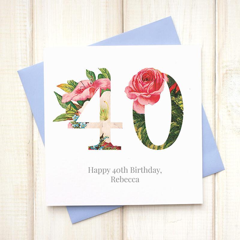 Personalised Floral Birthday Card