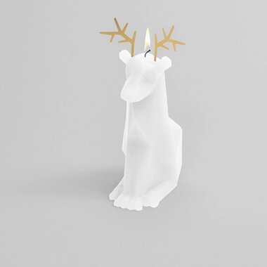 Pyro Pet Dyri Candle - White