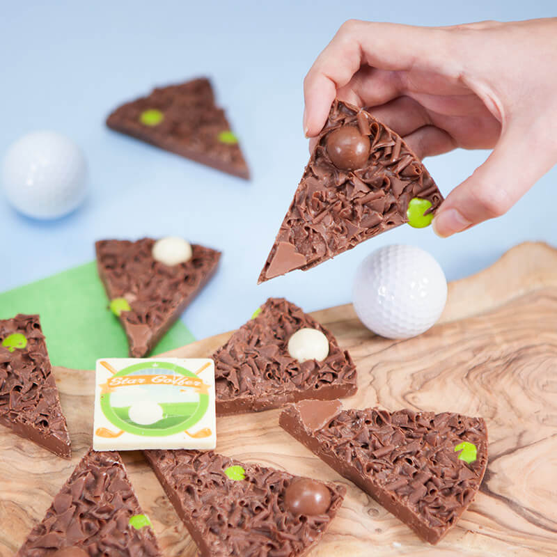 Personalised Golfer Chocolate Pizza