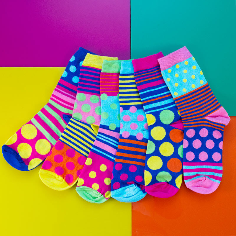 Polka Face Ladies Socks