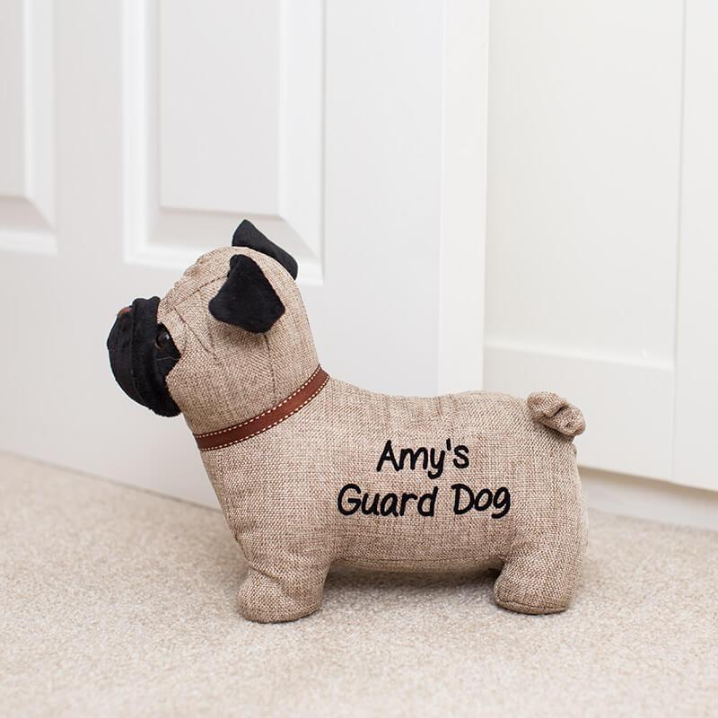 Personalised Pug Doorstop