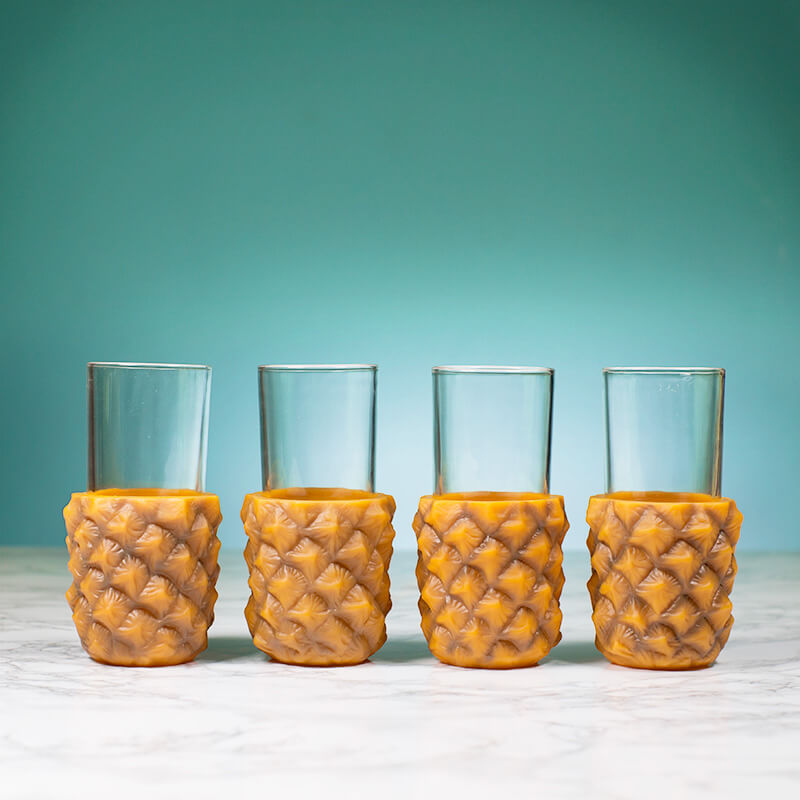 Pineapple Cup Holders - 4 Pack