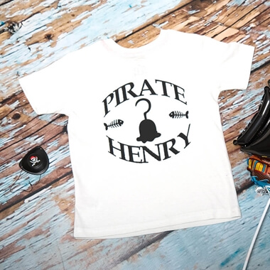 Personalised Pirate T-shirt