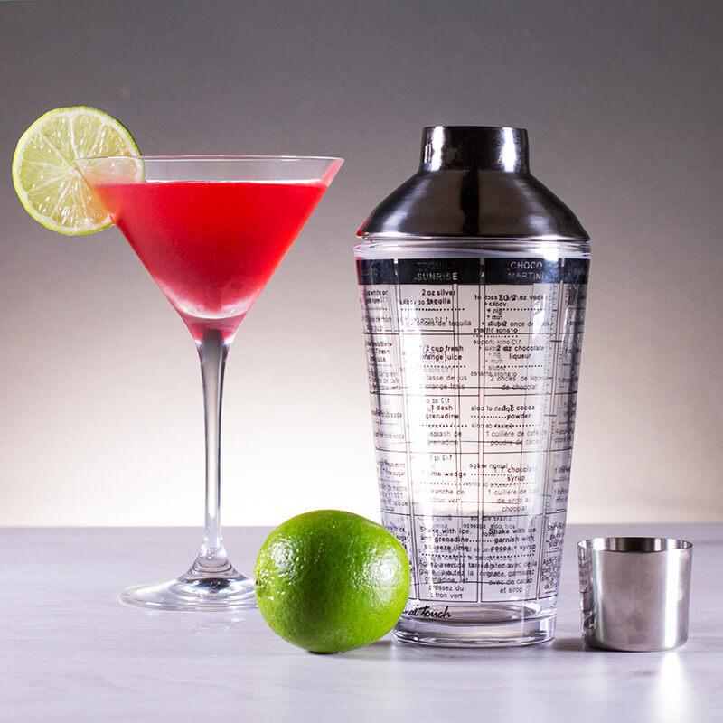 Glass Recipe Cocktail Shaker