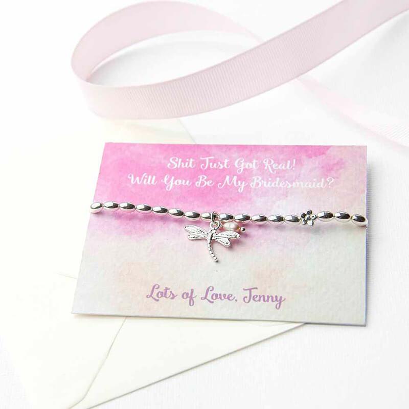 Personalised Dragonfly Friendship Bracelet