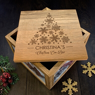 Personalised Christmas Tree Memory Box