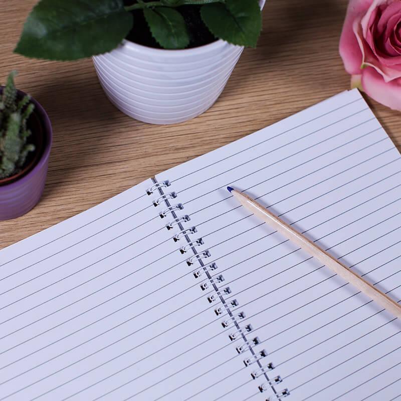 Personalised Floral Notepad