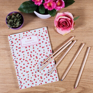 Personalised Floral Notepad
