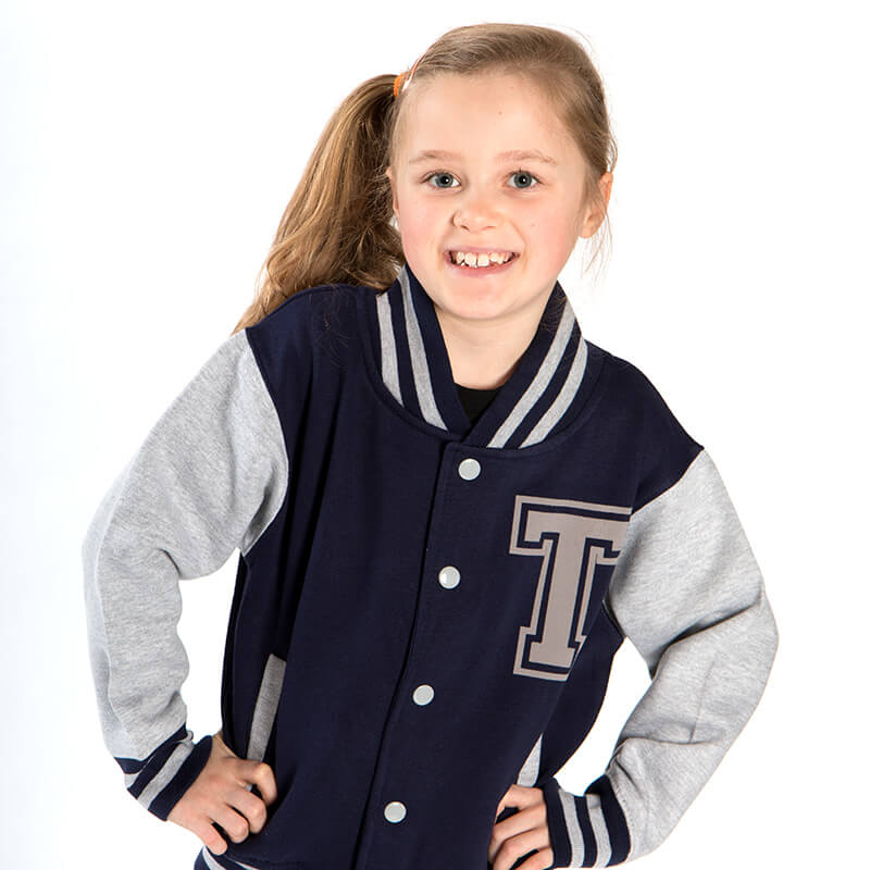Personalised Kids Varsity Jacket