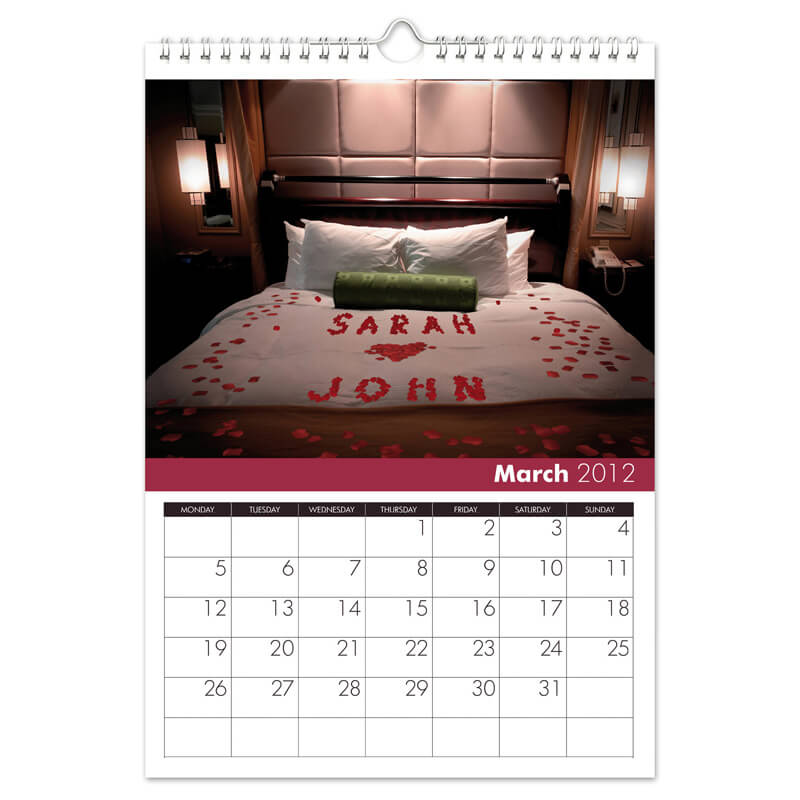 Personalised Love and Romance Calendar