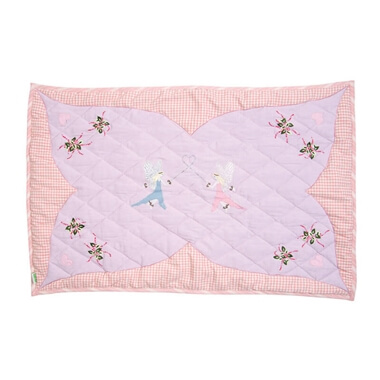 Large Fairy Cottage Floor Quilt
