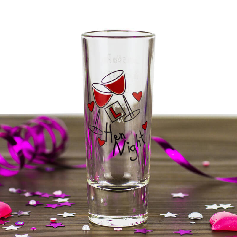 Personalised Hen Party Shot Glass