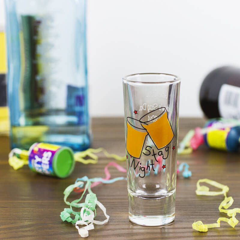 Personalised Stag Do Shot Glass