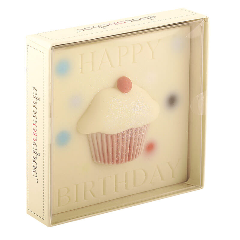 Happy Birthday Chocolate Cupcake