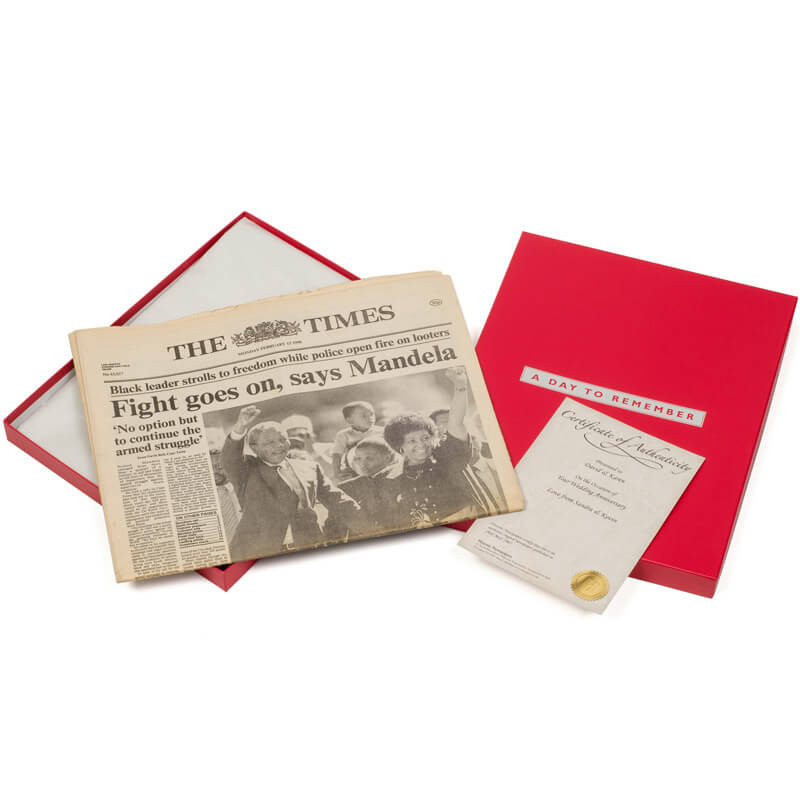 Original Newspaper 18th Birthday in Presentation Box - 18th gift