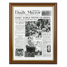 Significant Date Newspaper Front Page Framed Reprint