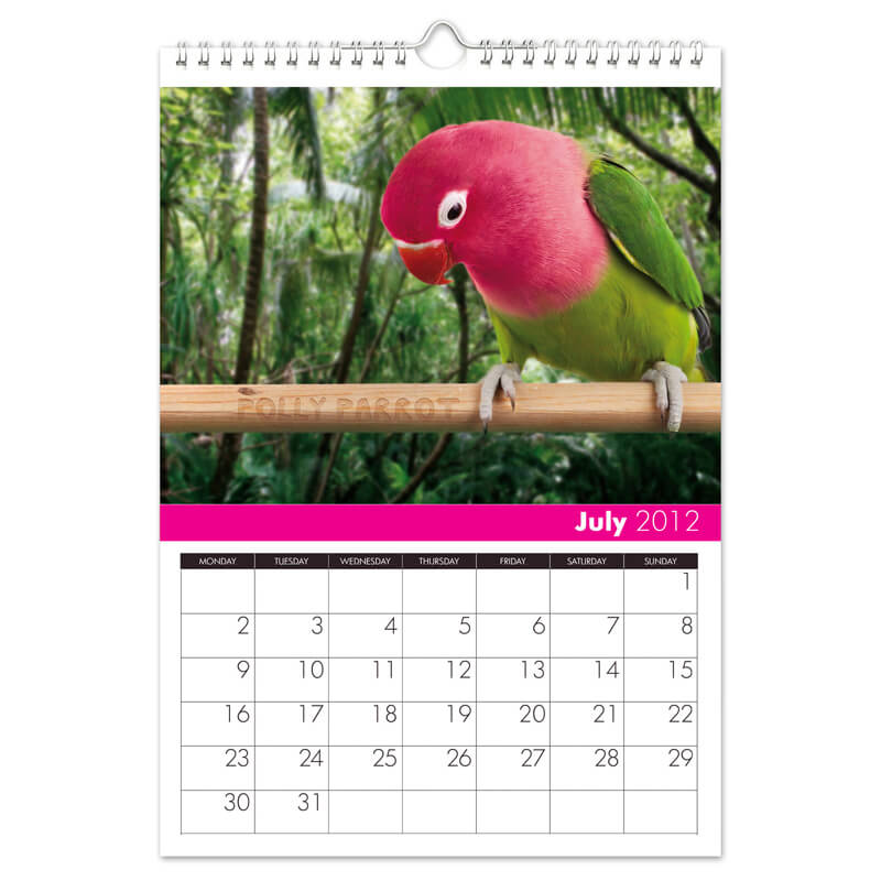 All Things Pink Personalised Calendar - A4