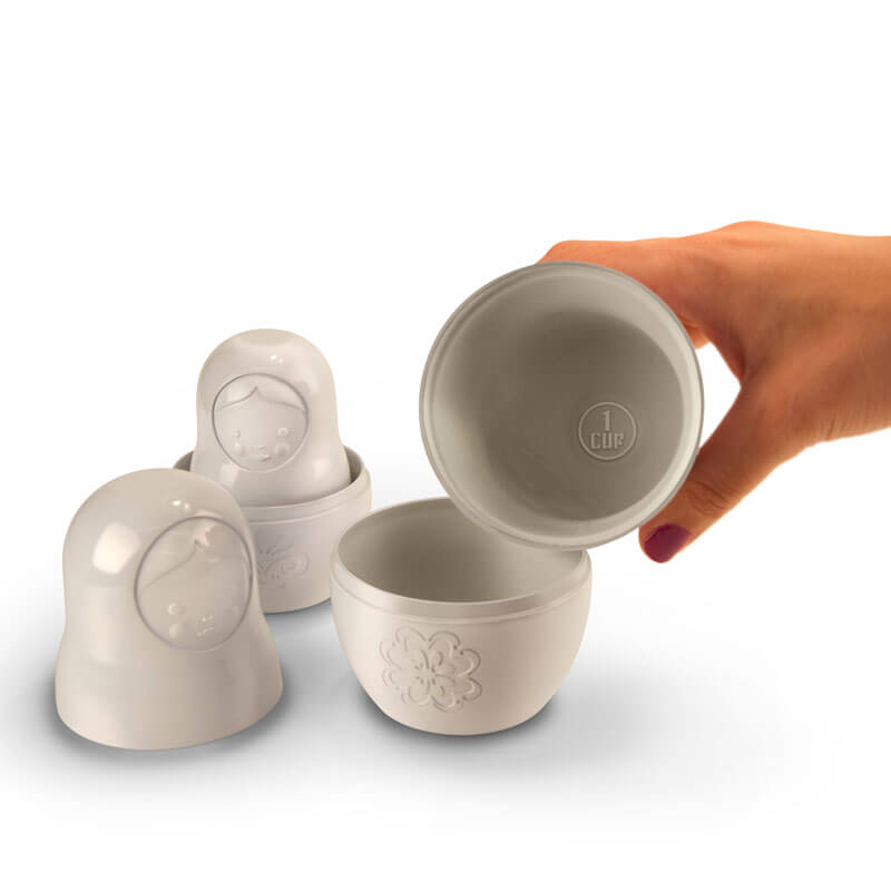 Russian Doll Measuring Cups - White