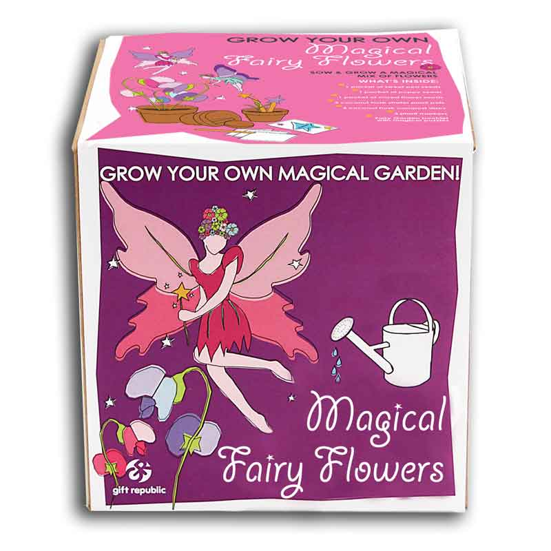 Sow and Grow - Magical Fairy Flowers - Children's Birthday Your Kids Bday - 6th Birthday