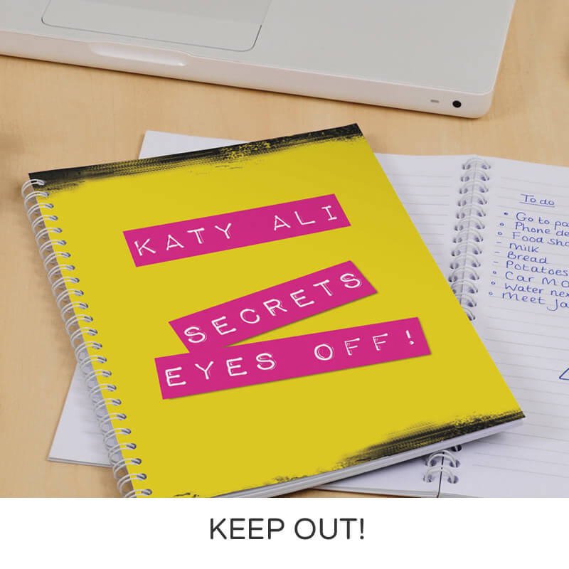 Personalised A5 Notebook - Love & Attitude
