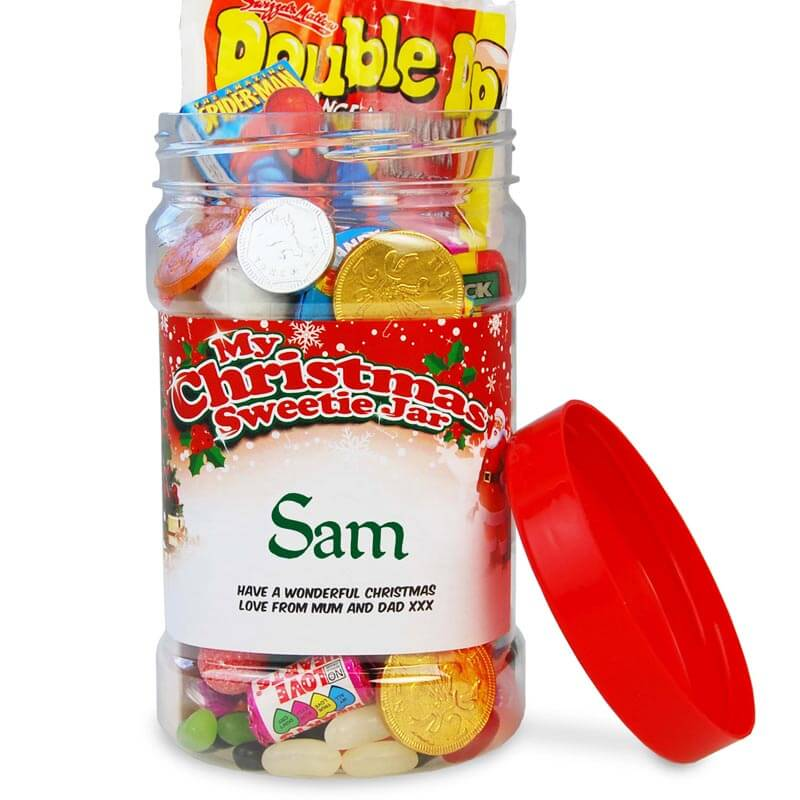 Personalised Christmas Sweetie Jar - Small
