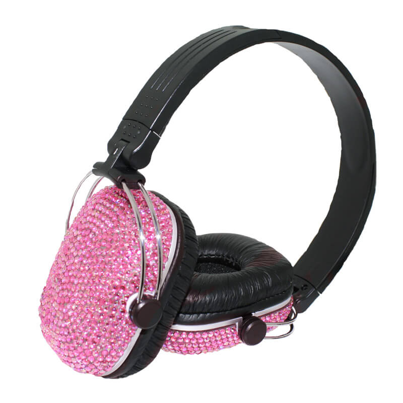 Diamante Headphones - Pink