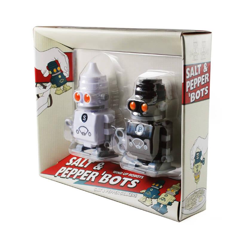 Salt and Pepper Wind Up Robots
