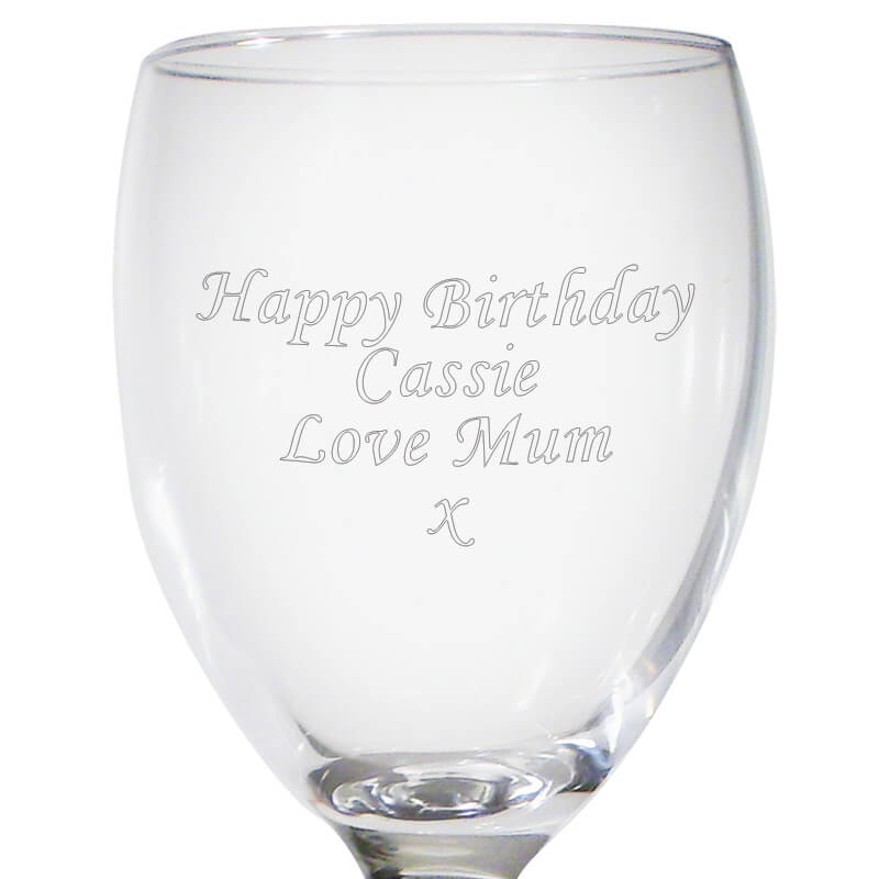 Personalised Red Wine Glass with Mini Bottle of Red Wine