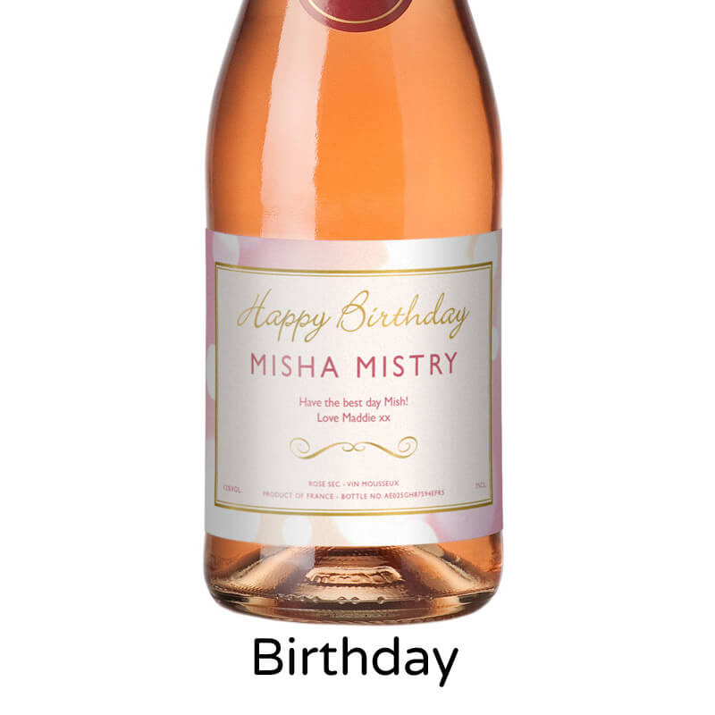 Personalised Sparkling Rose Wine