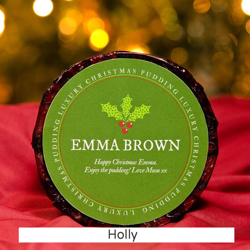 Personalised Christmas Pudding - Small