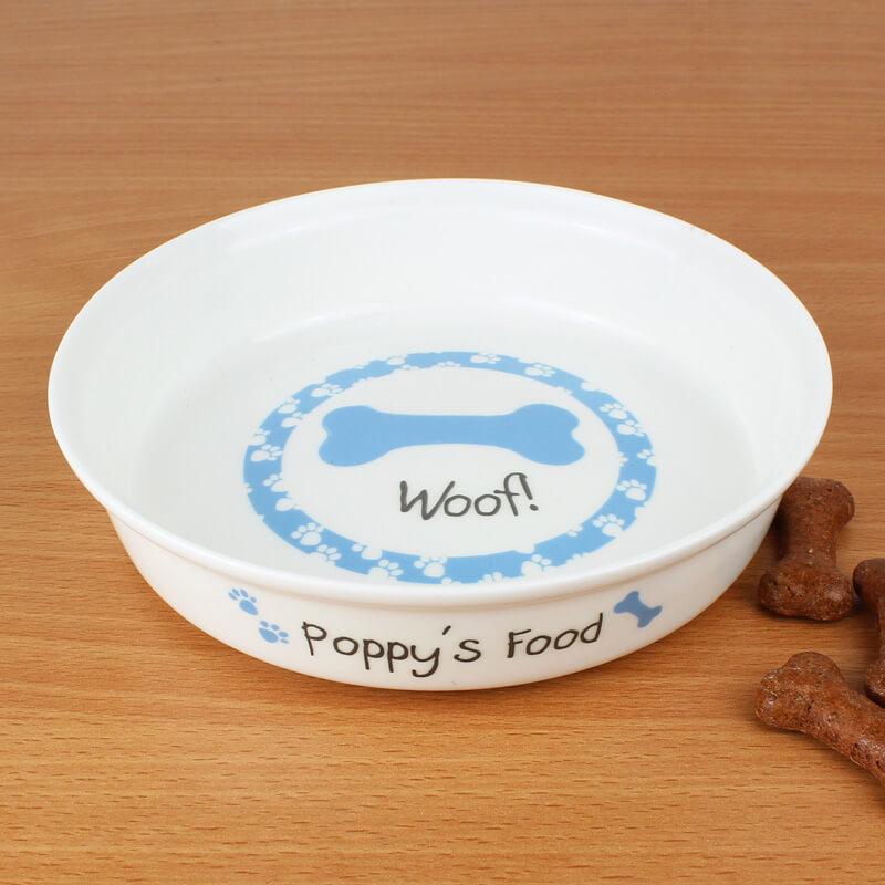 Personalised Dog Bowl - Blue